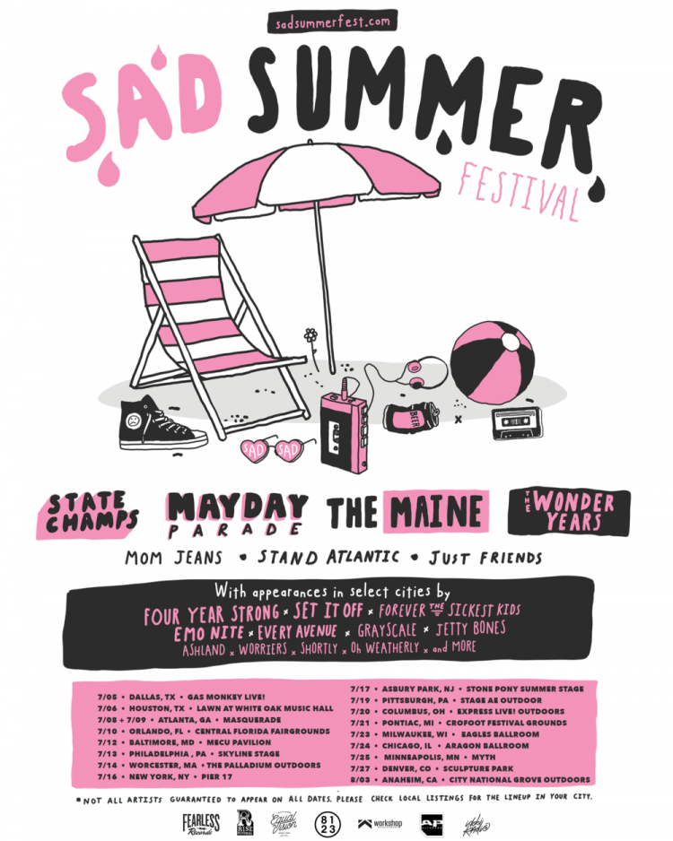 Sad Summer Festival starts today in Dallas and brings all the feelings to Worcester 7/14