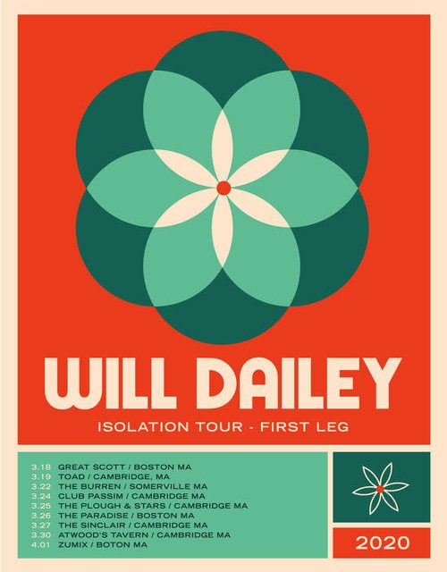 """Hot Show Alert: Will Dailey takes his """"Isolation"""" tour to all our favorite venues from …his studio"""